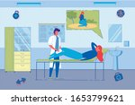paramedic from emergency rescue ... | Shutterstock .eps vector #1653799621