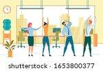 group office workout flat... | Shutterstock .eps vector #1653800377
