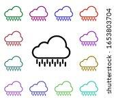 cloudy  rain sign multi color...