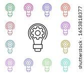 electricity  light bulb multi...