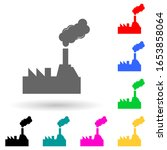 oil refinery multi color style... | Shutterstock .eps vector #1653858064