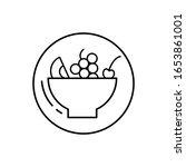 fruit salad  vegan icon. simple ...