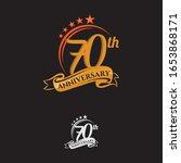 70 years anniversary... | Shutterstock .eps vector #1653868171