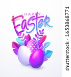 easter background. bright...   Shutterstock .eps vector #1653868771