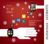 smart watch concept vector... | Shutterstock .eps vector #165386951