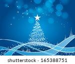 lights christmas tree | Shutterstock .eps vector #165388751