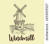 Old Windmill Hand Drawn Logo