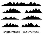 mountains silhouettes on the... | Shutterstock .eps vector #1653934051