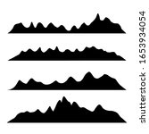 mountains silhouettes on the... | Shutterstock .eps vector #1653934054