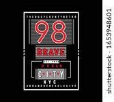 98 brave urban style typography ...   Shutterstock .eps vector #1653948601