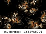 luxurious vintage pattern with... | Shutterstock .eps vector #1653965701