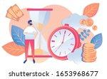 cartoon man businessman watch...   Shutterstock .eps vector #1653968677