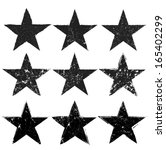 grunge stars collection | Shutterstock .eps vector #165402299