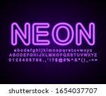 neon light text effect  glowing ... | Shutterstock .eps vector #1654037707