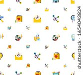 campaign icons pattern seamless.... | Shutterstock .eps vector #1654043824