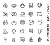 jewelry and bijouterie  icon... | Shutterstock .eps vector #1654044394