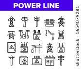 power line electricity... | Shutterstock .eps vector #1654079281