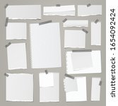 torn white squared and lined...   Shutterstock .eps vector #1654092424