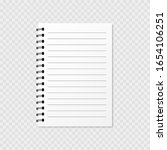 note pad blank  template. clear ...   Shutterstock .eps vector #1654106251