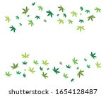 green hemp cannabis leaf vector ... | Shutterstock .eps vector #1654128487