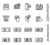 ticket vector icons set with...   Shutterstock .eps vector #1654149337