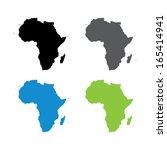africa map   vector | Shutterstock .eps vector #165414941