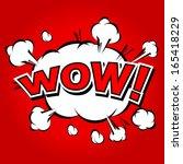 wow  comic speech bubble ... | Shutterstock .eps vector #165418229