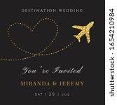 destination wedding  invitation.... | Shutterstock .eps vector #1654210984