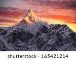 greatness of nature. ama dablam ... | Shutterstock . vector #165421214