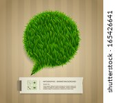 abstract green grass bubble and ... | Shutterstock .eps vector #165426641