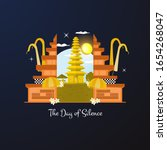 illustration of nyepi day or...   Shutterstock .eps vector #1654268047