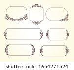 set of vector retro frames with ... | Shutterstock .eps vector #1654271524