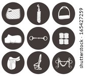 set of vector icons with horse... | Shutterstock .eps vector #165427259