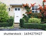 Front Door  Porch And Garden Of ...