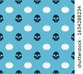 set skull  and pumpkin  on...   Shutterstock .eps vector #1654288234