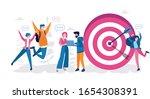 business vision  big target... | Shutterstock .eps vector #1654308391