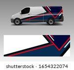 cargo van wrap vector  graphic... | Shutterstock .eps vector #1654322074