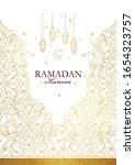 vector ramadan kareem card.... | Shutterstock .eps vector #1654323757