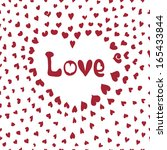 seamless pattern with hearts... | Shutterstock .eps vector #165433844