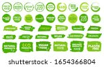 labels and emblems organic ... | Shutterstock .eps vector #1654366804