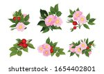 Briar Blossomed Flowers With...