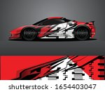 sport car decal graphic wrap... | Shutterstock .eps vector #1654403047