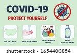 coronavirus prevention. stay... | Shutterstock .eps vector #1654403854