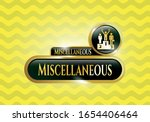 gold badge or emblem with... | Shutterstock .eps vector #1654406464