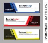 vector abstract web banner...   Shutterstock .eps vector #1654411447