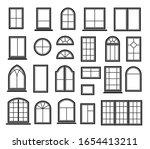 window icon set. vector symbol... | Shutterstock .eps vector #1654413211