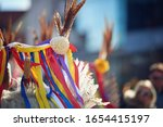 colorful face of kurent ... | Shutterstock . vector #1654415197
