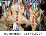 colorful face of kurent ... | Shutterstock . vector #1654415227