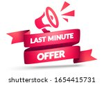 vector illustration last minute ... | Shutterstock .eps vector #1654415731