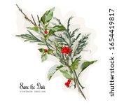 vector illustration branches... | Shutterstock .eps vector #1654419817